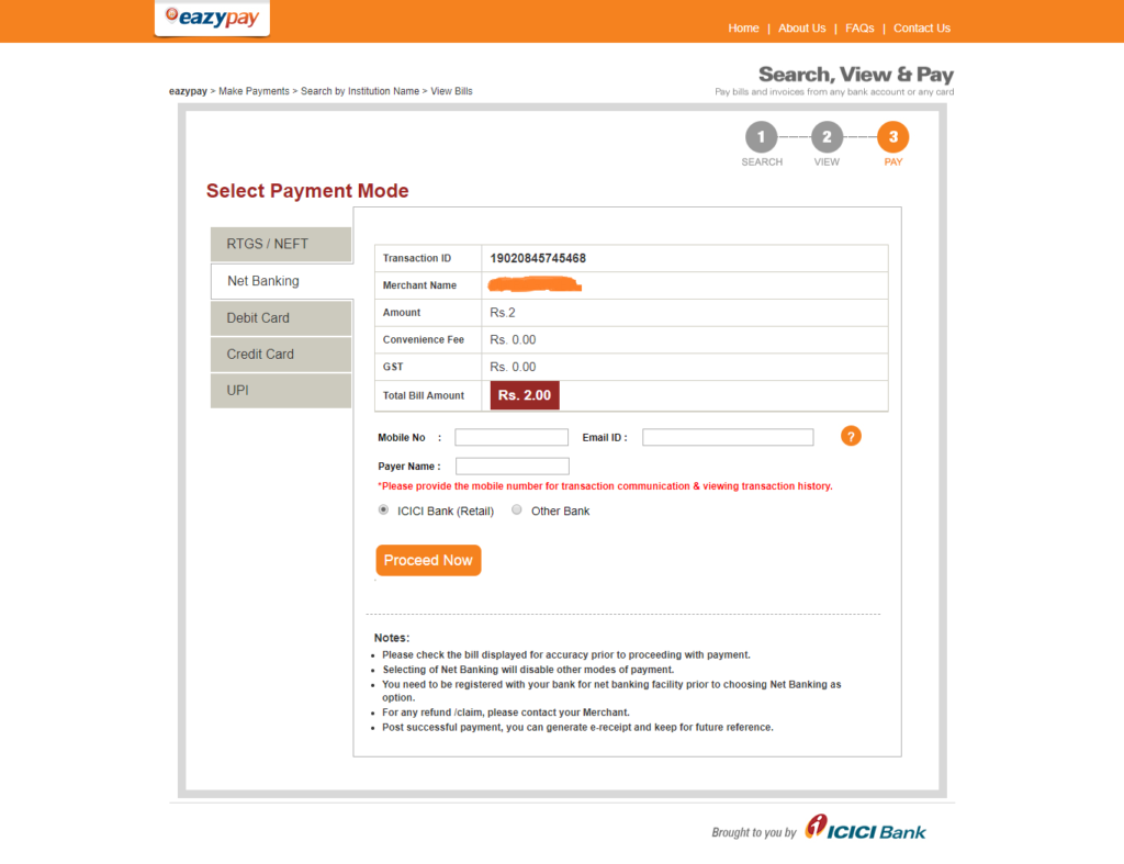 eazypay-icicibank-EazyPG Itinfotech.in